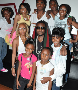 Shawty Lo shown here with his some of his family.